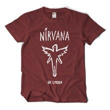 Kurt Koben NIRVANA In Utero Nirvana Mother Grunge Rock Short Sleeve T-Shirt Male Tide Summer T shirt Cotton Fashion Shirt