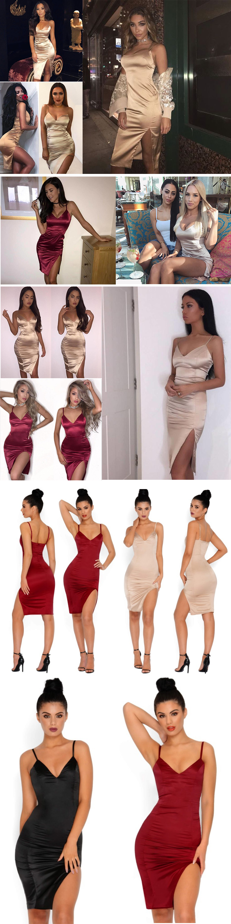 HTB1haV2PVXXXXabapXXq6xXFXXX7 - FREE SHIPPING Sexy Bodycon Dress Women Deep V-Neck Off Shoulder JKP243