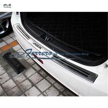 Darmowa wysyłka car styling dla 2010-2018 Mitsubishi ASX z płytą tylną ze stali nierdzewnej tylny próg bagażnika Scuff płyta ochronna pod silnik pedał tanie tanio NoEnName_Null Chrom stylizacja STAINLESS STEEL 0 5kg