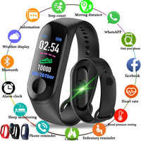 M3 Fitness Smart Bracelet Blood Pressure Heart Rate Monitor Colorful Touch Screen Smart Band Wristband Step Counter for Men Kids