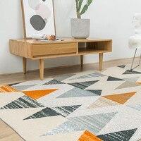 Nordic Дании ковер Творческий Спальня ковер домашнего декора диван Кофе столик ковер исследование коврик геометрический Дизайн прикроватные