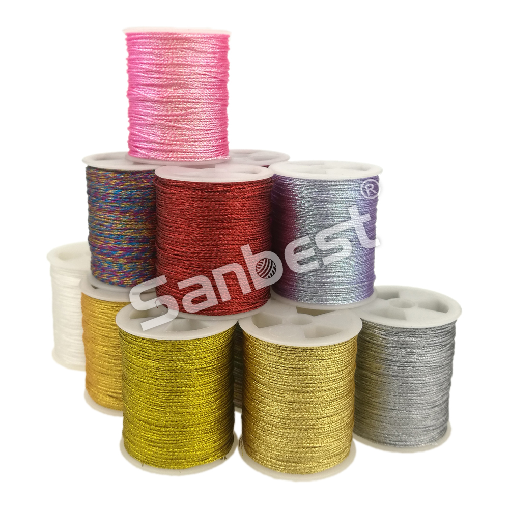 Sanbest 3 6 9 Strands Metallic Weaving Thread 3 pcs set Shiny Effect Jewellery DIY Crafts String Stitch Weave Threads TH00047 in Floss from Home Garden