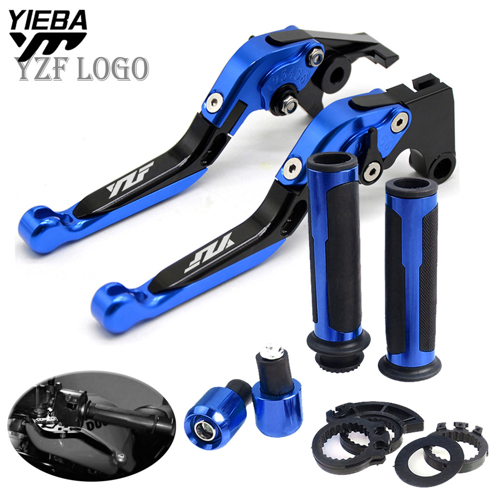 CNC Motorcycle Motorbike levers Folding Brake Clutch Levers handle grips end FOR YAMAHA YZF R25 R3