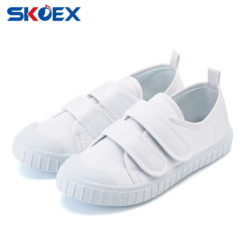 child white canvas shoes autumn boys sneakers