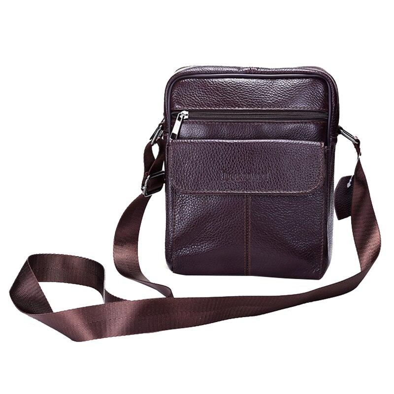 ФОТО Vintage Men's Cowhide Shoulder Crossbody Bag Business Men Genuine Leather Bag Natural Cowskin Men Messenger Bags