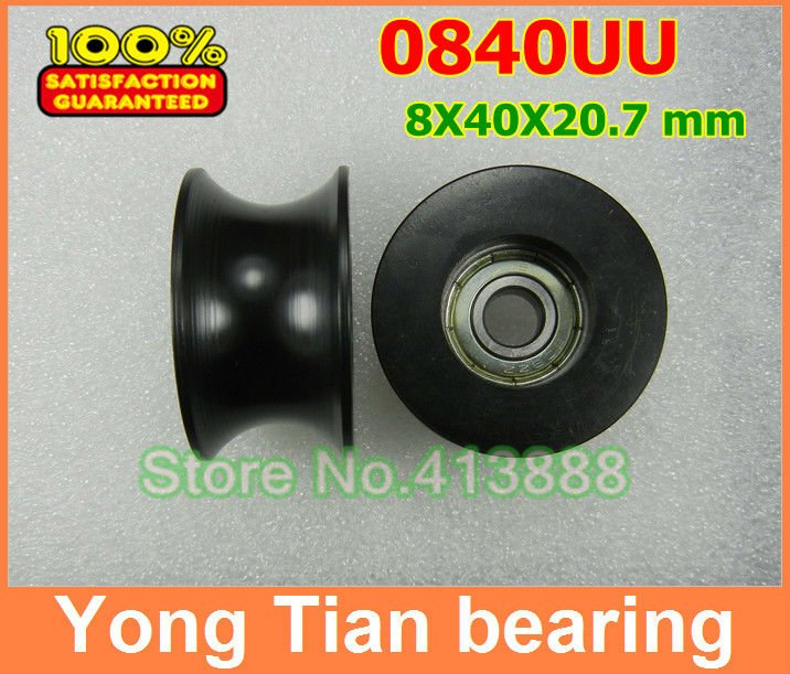 10 Pcs/ Lot 0840UU 8mm Groove Guide Pulley Sealed Rail Ball Bearing BU0840 8*40*20.7 mm 608Z 1 piece bu3328 6 6 33 27 5 29 5 mm z25 guide rail u groove plastic roller embedded dual bearing