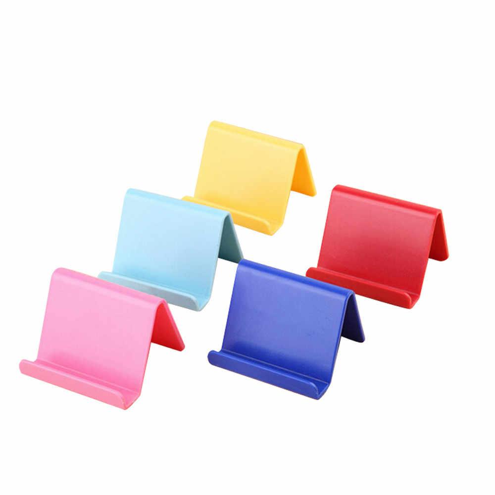 حامل هاتف المحمول الجدول حامل سطح العمل قلم بلاستيكي للمكتب جبل الحلوى اللون البسيطة المحمولة حامل العالمي قوس للهواتف الذكية #15