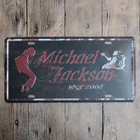 Michael Jackson Number One Vintage Car License Plate 15 30 Shabby Chic Tin Sign For Bar