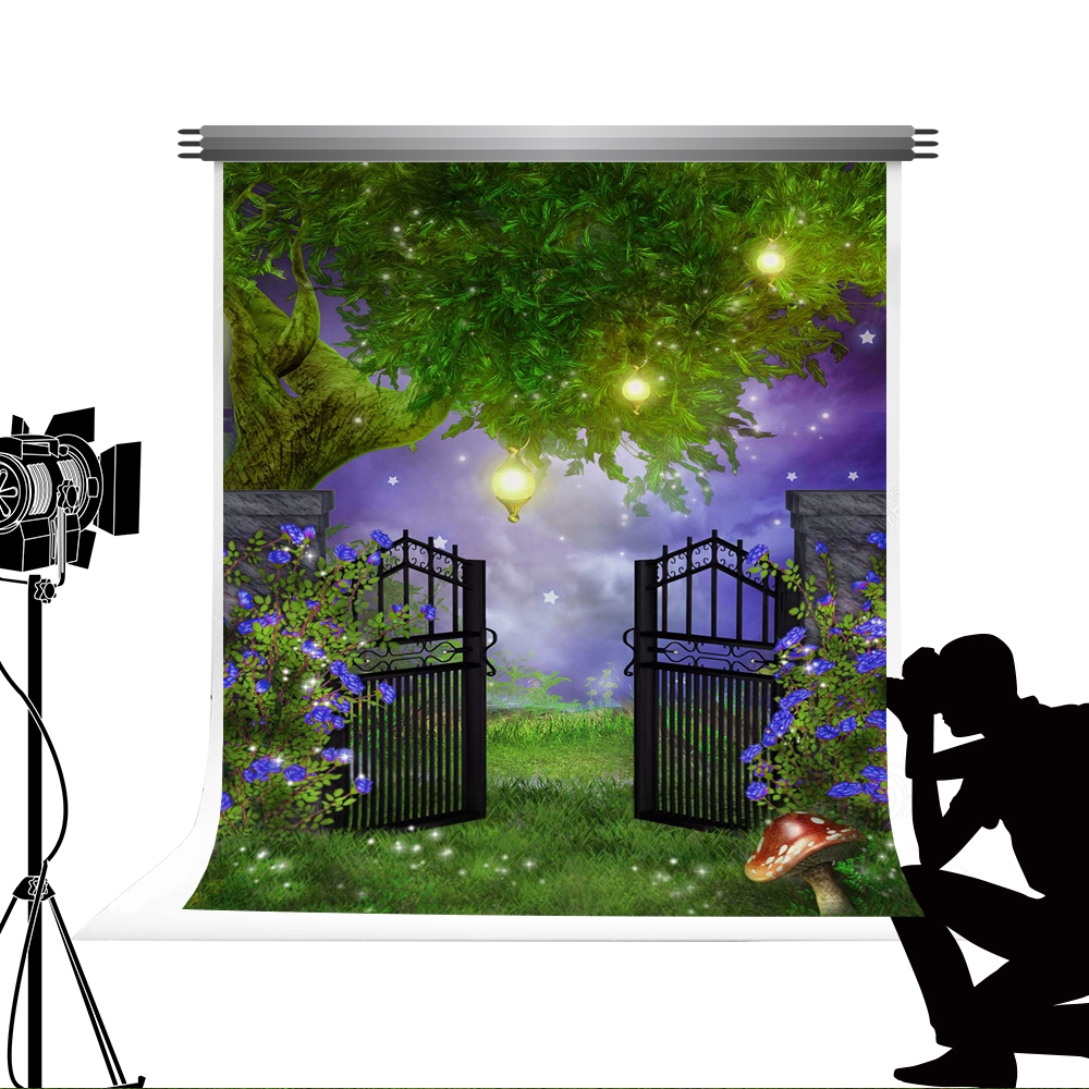 Kate Fairy Tale Photo Booth Background Magic Bokeh Backdrops Cartoon Forest Studio Photo Props for Children Photography 5x7ft