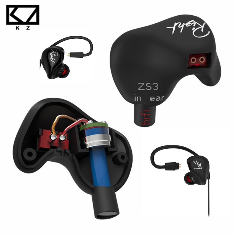 [Original]KZ ZS3 In Ear Earphone Hifi Monito Earbuds Bass Headset Stereo Running Sport Earphone Noise Cancelling Music Headphone original kz atr in ear earphone noise cancelling earbuds with mic sports stereo bass hifi headset abs dynamic unit for iphone 7