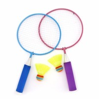 1 Pair Children Badminton Set Kids Outdoor Sport Toy Educational Toys Child Fitness Racket Sports