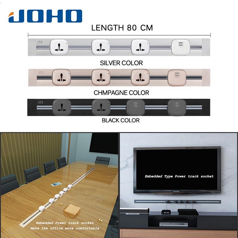 JOHO usine Total interrupteur 8000 W 80 cm Tomada Usb Pop prise Eu prise murale lumière LED bureau pour salle de réunion salon