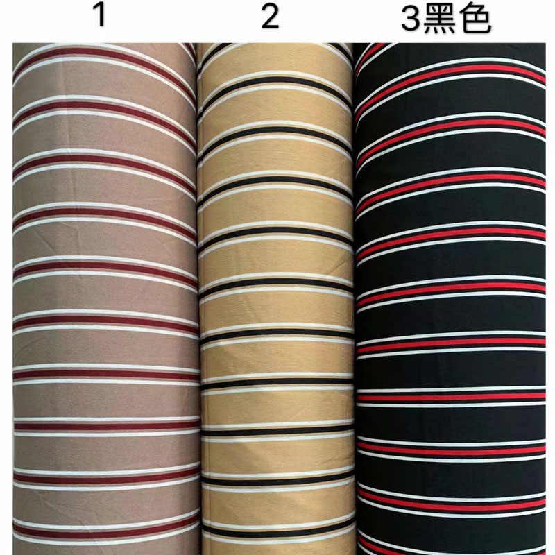 Полосатая шифоновая ткань летнее непроницаемое платье ткань перламутровый шифон двойная морщинистая ткань