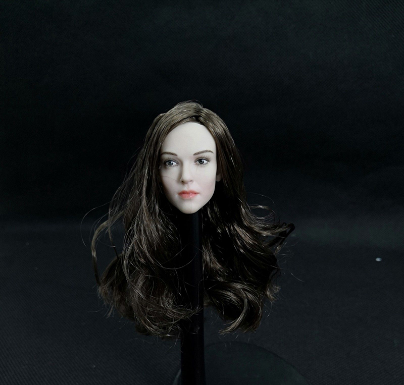 "women Head Sculpt 1/6 Scale Ellen Page female girl Head Carving Model For 12"" Action Figure Collection Doll Toys Gift"
