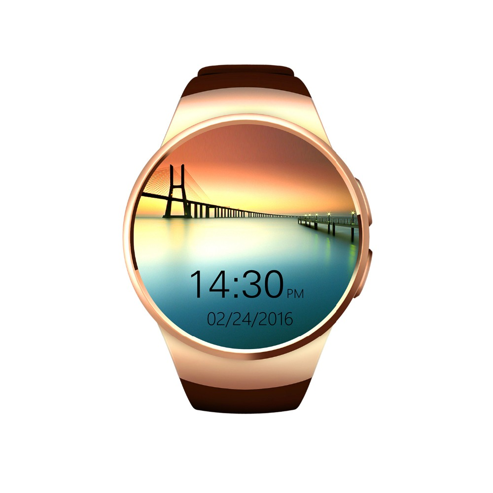 ФОТО KW18 Bluetooth Smart Watch Full Touch Screen Support SIM TF Card Smartwatch Phone Heart Rate Passometer For Iphone Samsung Phone