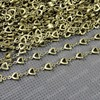 Free Shipping Wholesale DIY Antique Bronze Vintage Copper Necklace Bracelete Making Love Heart Chain Handmade Accessories