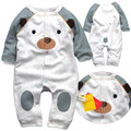 2015 nuevos mamelucos del bebé de manga larga, de calidad superior del mono recién nacido ropa de bebé de 3-12 M bebe, 100% ropa de bebé de algodón