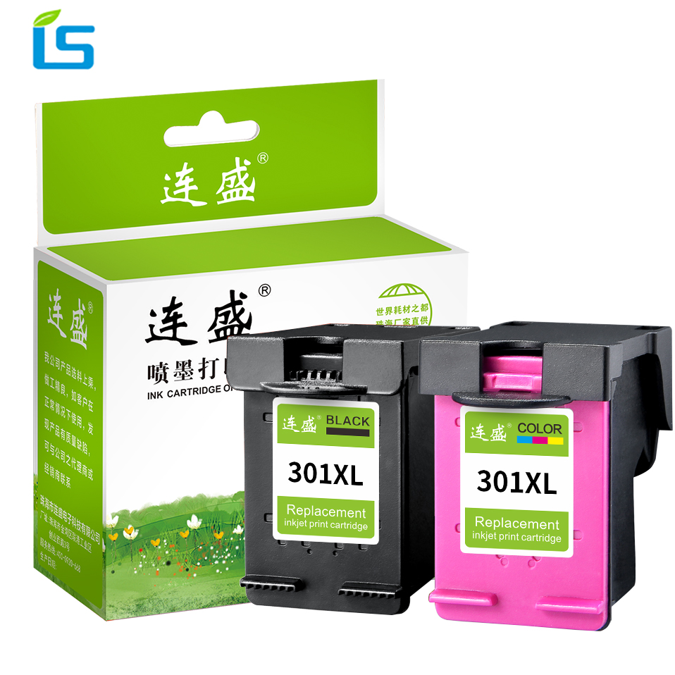 2Pcs 301XL Refilled ink cartridges replacement for hp 301XL 301 xl For HP D1000 1010 1050 1510 2000 2050 4500 5530 4630 Printer