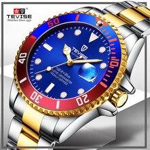 TEVISE mode montre automatique hommes étanche luxe montres mécaniques hommes automatique Date horloge affaires montres mécaniques pour hommes