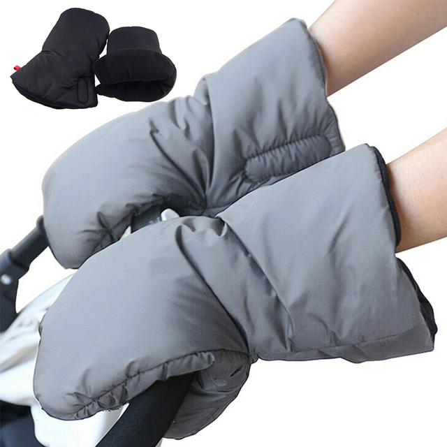 Pram Pushchair Hand Muff Windproof Baby Stroller Gloves Fingerless Warmer Gloves