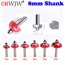 1PC 8mm Shank High Quality Cove Bit With Bearing  Dovetail Router Bit Cutter wood working