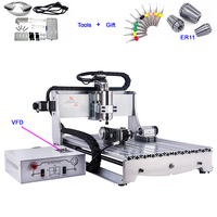 4 Axis 6040 CNC 800W Spindle Motor Metal Cutting Engraving Machine Wood Router