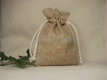 8x12cm small jute drawstring gift bag  with custom printing your company logo