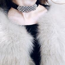 Здесь можно купить  Winter Autumn Fashion Jewelry Ribbon Chokers Necklaces For Women Geometric Rhinestone Temperament Necklace Girl Bijoux Accessory