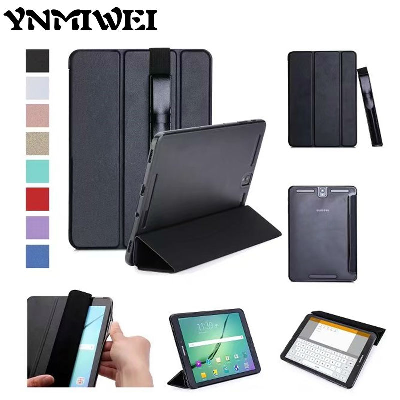YNMIWEI Tab S3 T820 Flip PU Leather Case 9.7'' Tablet Case Cover Fundas For Samsung Galaxy Tab S3 9.7 T820 T825 Protective Stand new fashion tab s3 9 7 tablet case pu leather flip cover for samsung galaxy tab s3 9 7 inch t820 t825 cute stand cover 6 colors