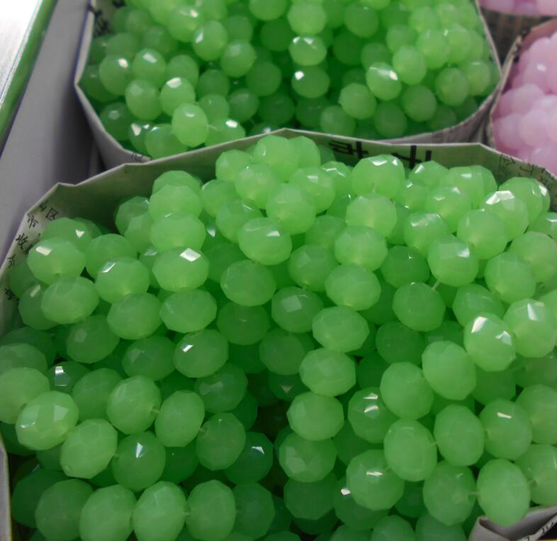 Non hyaline Green Color 3 4mm 145pcs Rondelle Austria faceted Crystal Glass Beads Loose Spacer Round