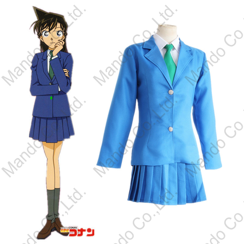 Anime Detective Conan Case Closed Mouri Ran Rachel Moore Cosplay Costumes women school g ...
