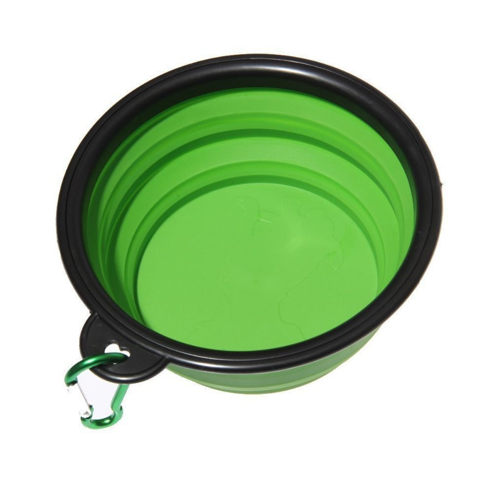 1PC Dog Cat Water Food Bowl Silicone Portable Travel Bowl Feeder Outdoor Travel Carrier Dog Bowls Dispenser Bags Pet Accessories 1