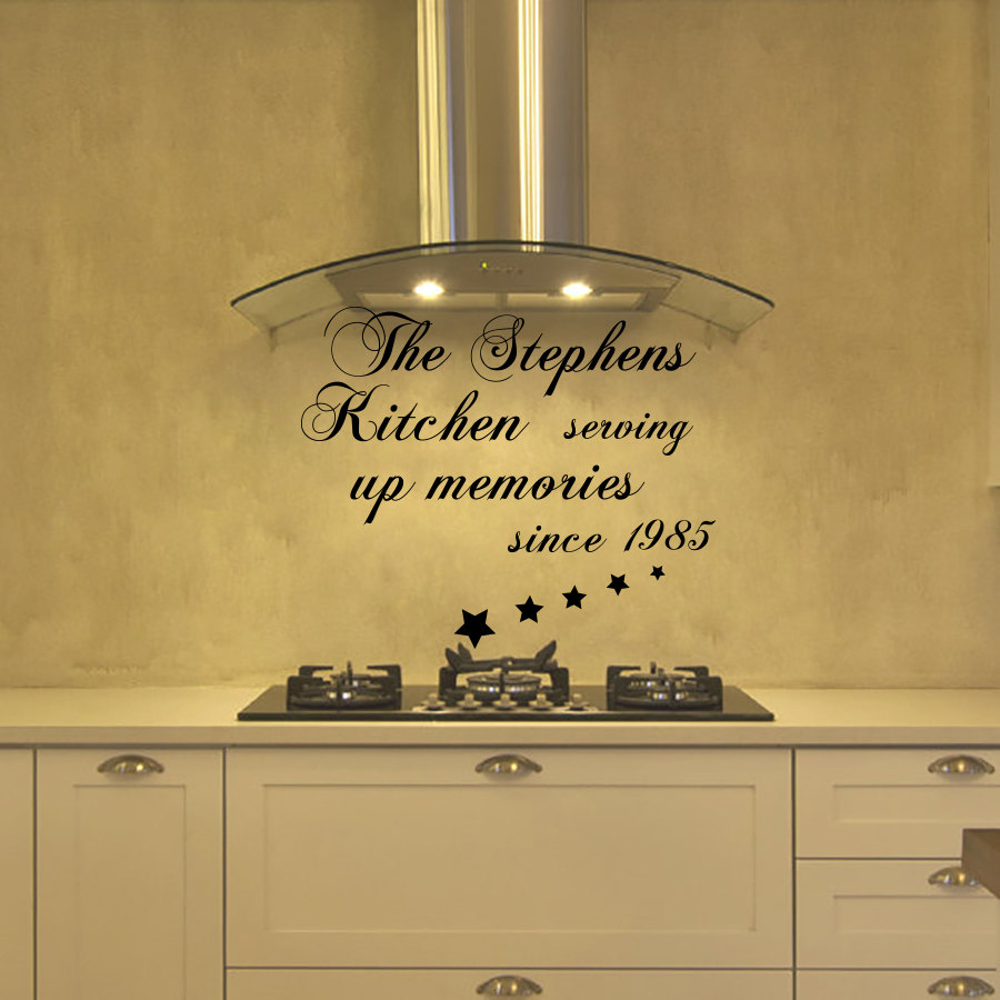 The Stephens Kitchen Serving Up Memories Quotes Wall Stickers Home ...