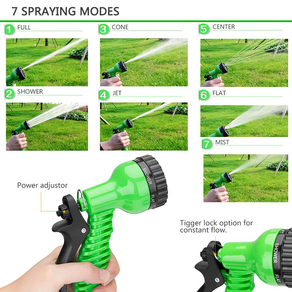 Image 3 - 25 10FT Flexible Garden Water Guns Garden Hose Pipe Multi  Function High Pressure Spray Nozzle Collapsible Hose for Garden Car-in Garden Water Guns from Home & Garden