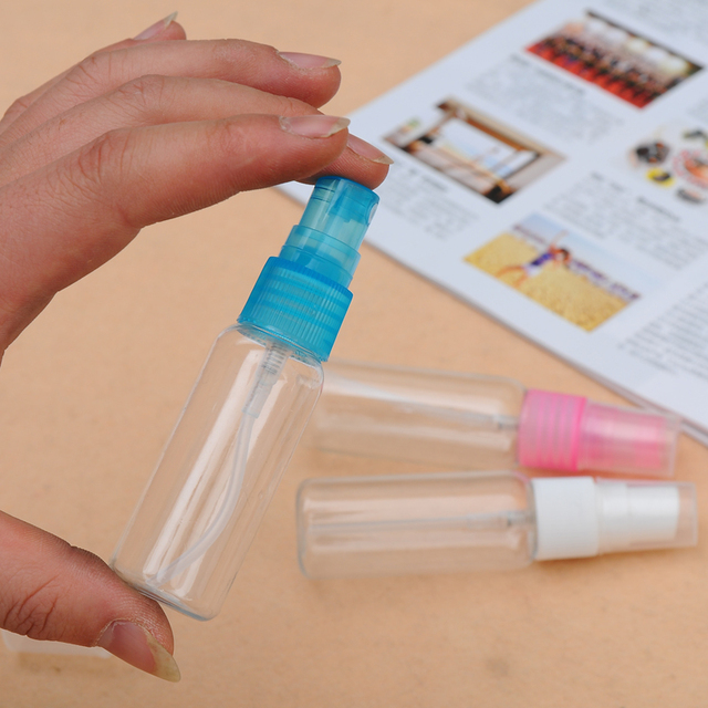 small cosmetic spray bottle spray bottle blue powder white purple 30m 50ml  2115