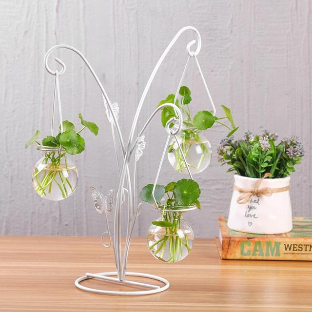 Water Planting Glass Vase Flower Pot Planter Hydroponic Plant
