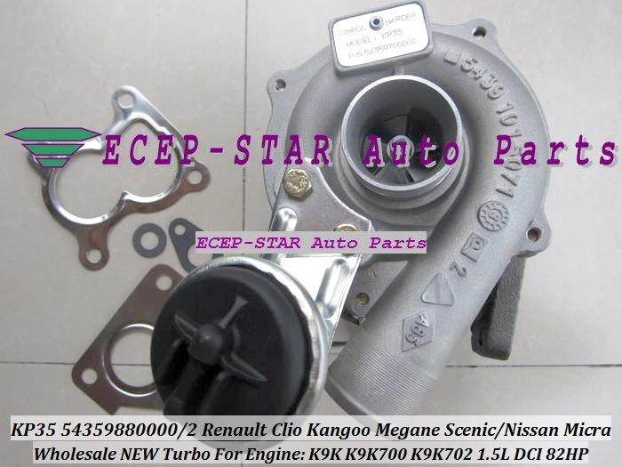 цена на Free Ship KP35 2 54359880000 54359880002 Turbo For NISSAN Micra For Renault Clio Kangoo Megane Scenic K9K K9K700 K9K702 1.5L DCI