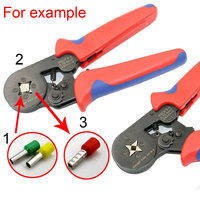 Mini Crimping Tool Insulated Self Adjustable Ratcheting Crimping Plier Multi Tools 0 25 6mm Terminals Ferrules