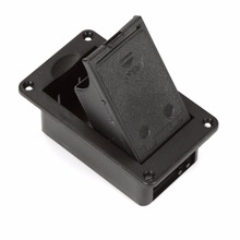 1pcs Black 9V Battery Compartment Holder Box Case Cover For Guitar Bass Active Pickup, Free Shipping