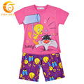 New 2016 Summer  Baby Girl Kids Clothes 100% Cotton Character Baby Girls Clothing Set 2016 For 100-150 Baby Girl Names