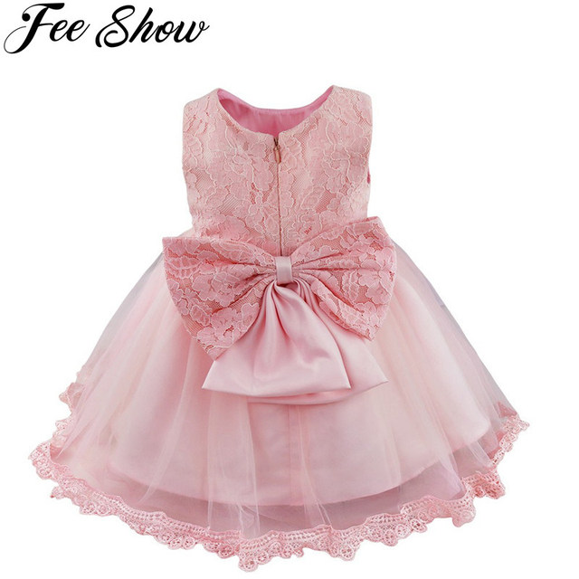 Winter Baby Girl Christening Gown Infant Princess Dress 1st Birthday ...