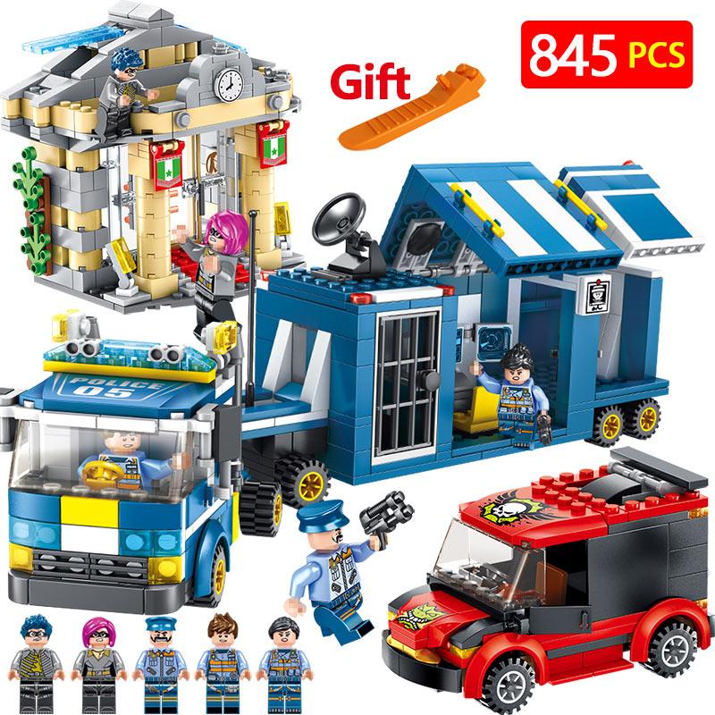 Police Series Set Compatible LegoINGLYS City Policemen Team Blocks Mini Action Figures Bricks Enlightening Toys For Children sonny angel mini figures easter series 6pcs set toys christmas