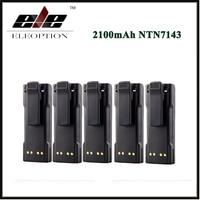 Eleoption 5x 2100mAh NTN7143 NTN7144 Battery for MOTOROLA HT1000 MT2000 MTS2000