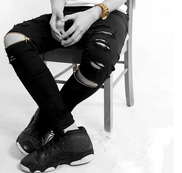 Aliexpress.com : Buy New ripped Frayed jeans for men skinny ...