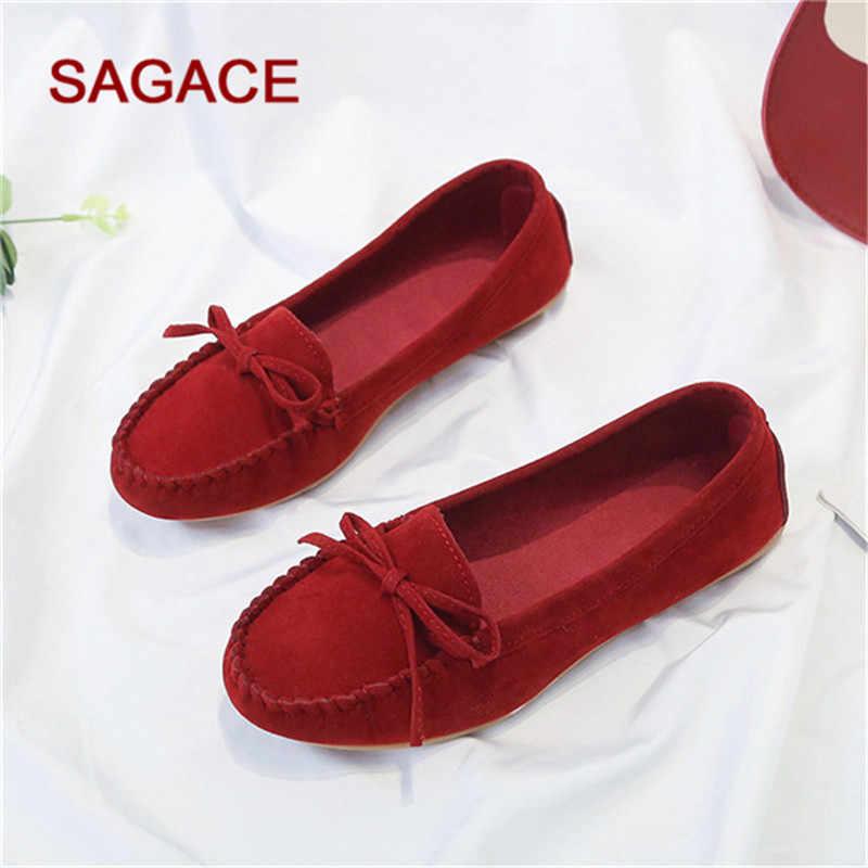Plus Size 35-43 Vrouwen Flats schoenen 2019 Instappers Snoep Kleur Slip op Platte Schoenen Ballet Flats Comfortabele Dames schoen zapatos mujer