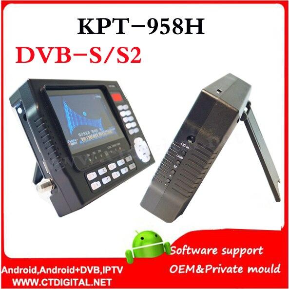 Satlink WS-6922 KPT-958H 4.3 inch TFT LED sat finder dvb-s2 handheld satfinder sattelite KPT 958H satfinder hd dvb s2 satlink satlink ws 6979se dvb s2 dvb t2 mpeg4 hd combo spectrum satellite meter finder satlink ws6979se meter pk ws 6979