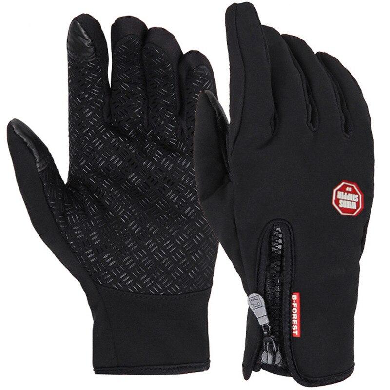 Unisexe écran tactile hiver thermique chaud vélo vélo Ski extérieur Camping randonnée moto gants sport doigt complet