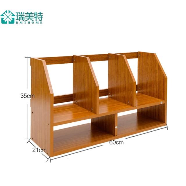 Creative Simple Rui US Special Small Desktop Bookshelf Desk Bookcase Shelves Table Storage Rack Mini