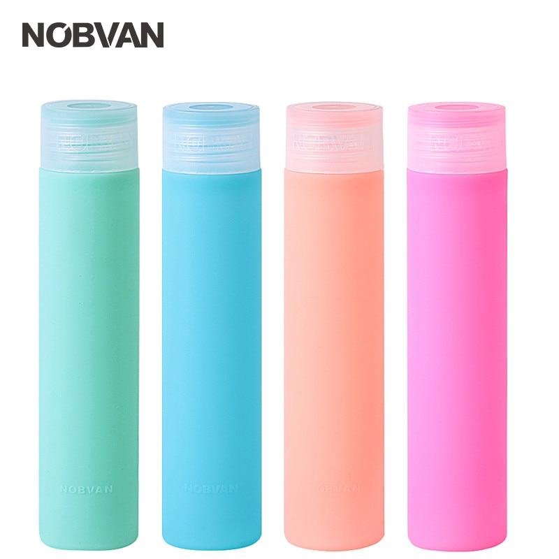 NOBVAN 250ML Gelé Färg Glas Drickflaska Med Silikonomslag Glas - Kök, matsal och bar