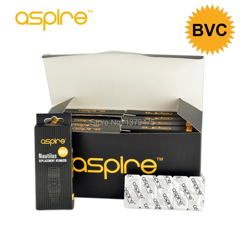 50 pcs/lot Aspire Nautilus BVC bobine 1.8ohm 1.6ohm 0.7ohm fond Vertical noyau Electroinc Cigarette atomiseur remplacement Vape tête-in Atomiseur de cigarette électronique from Electronique    1